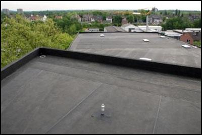 Plat dak belopen